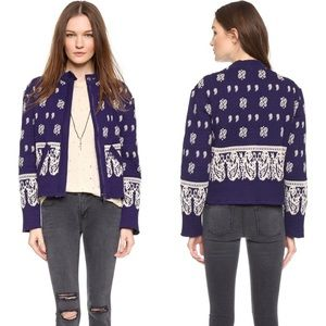 """  Free People   """"Riviera"""" print crop jacket"""